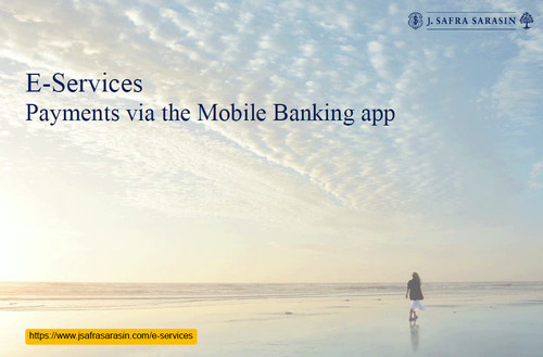 Scan payments with the mobile banking app